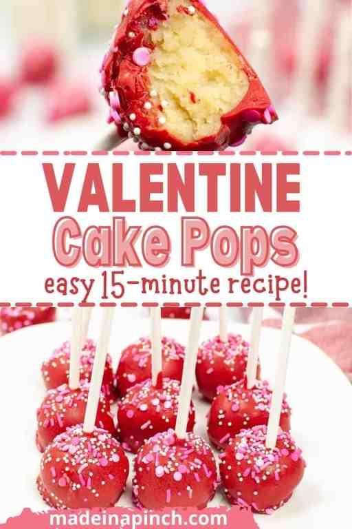 Valentines cake pops pin image