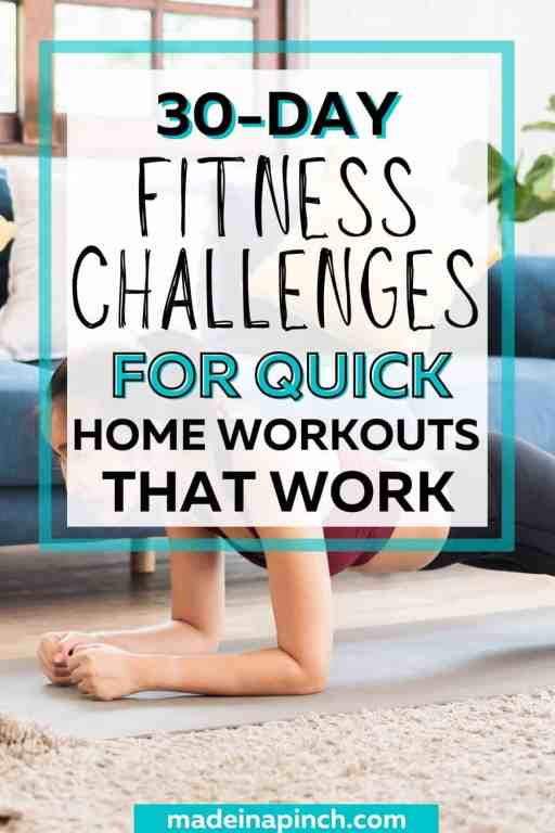 30day fitness challenge ideas pin image