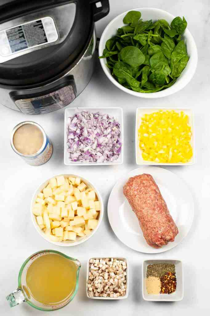 sausage potato spinach soup ingredients
