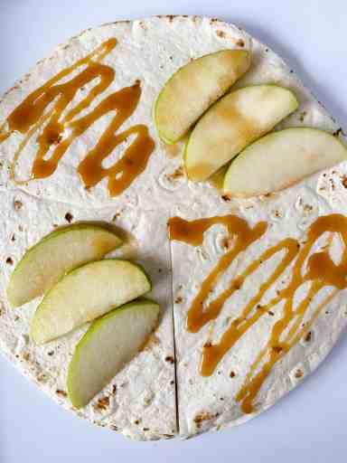 TikTok viral tortilla wrap making our caramel apple wrap