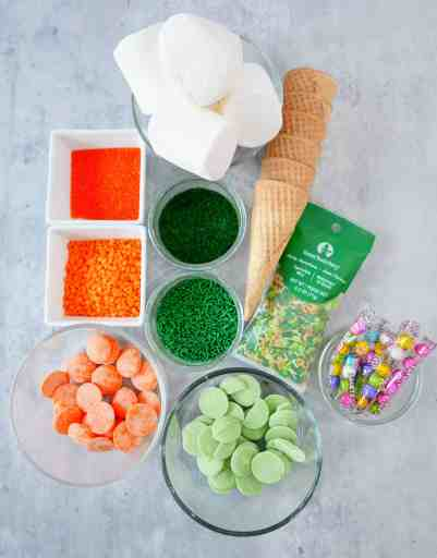 supplies for St. Patrick's Day gnome treats