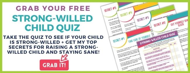 Strong-willed child email freebie banner