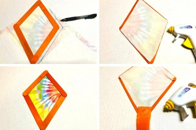 easy popsicle crafts for kids process collage
