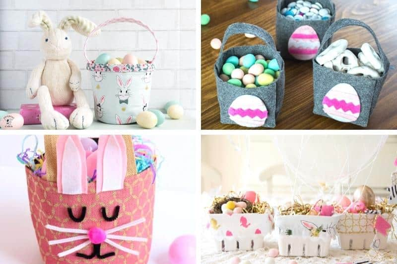homemade Easter basket ideas collage #3