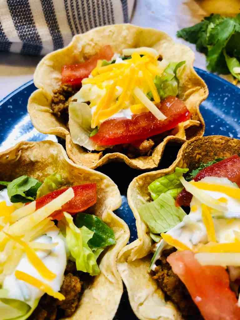 taco cups closeup