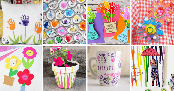 mother's day craft ideas collage