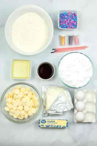 mermaid cupcakes ingredients