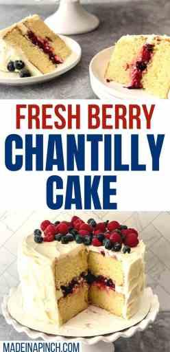 fresh berry Chantilly cake long pin