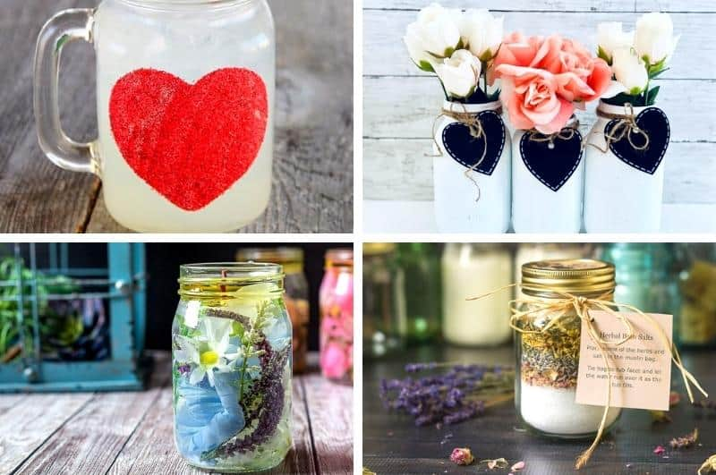 easy DIY mason jar gifts for Mother's Day