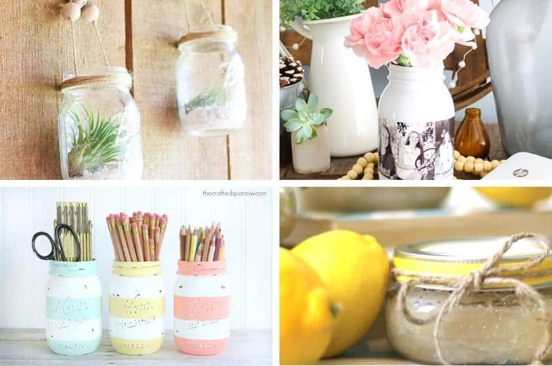 DIY Mother's Day mason jar gifts collage