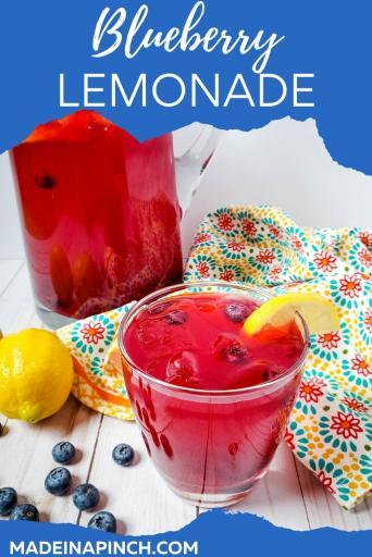 homemade refreshing blueberry lemonade pin