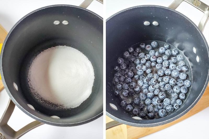 homemade blueberry lemonade process image collage