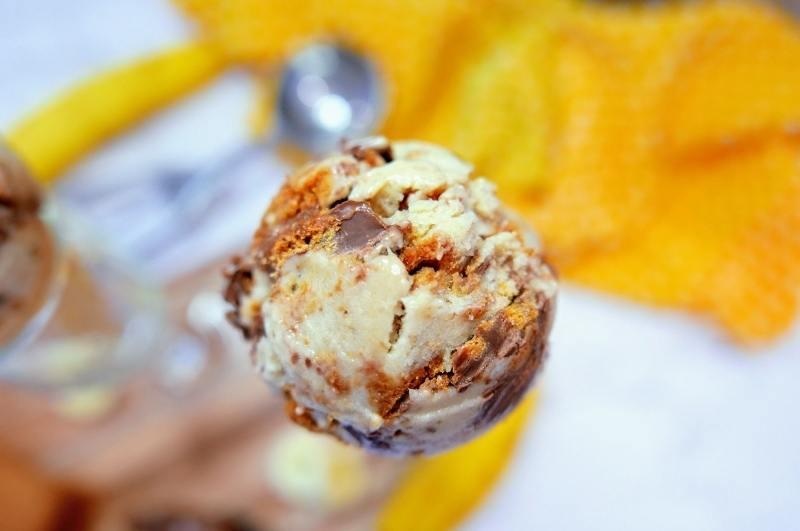 closeup of banana nice cream