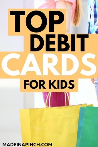 best debit cards for kids pin image