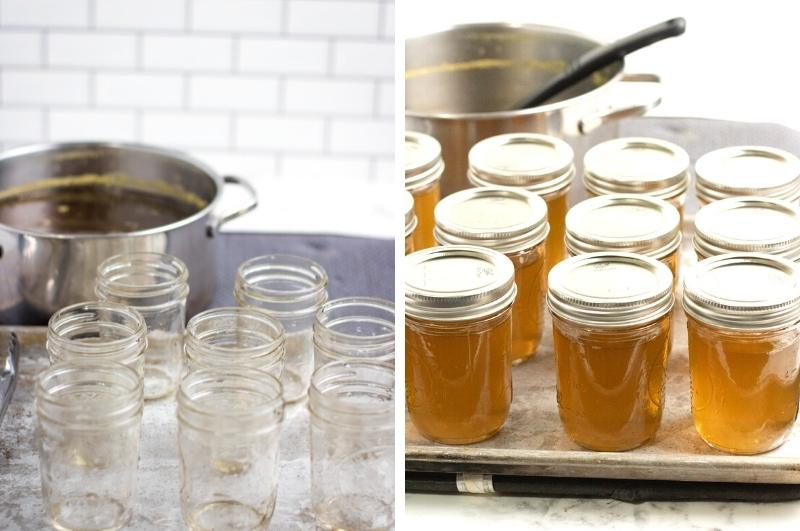 canning jelly process collage