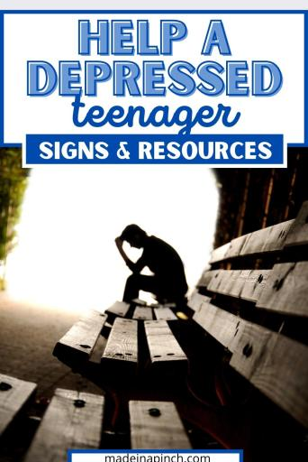 how to help a teen with depression pin image