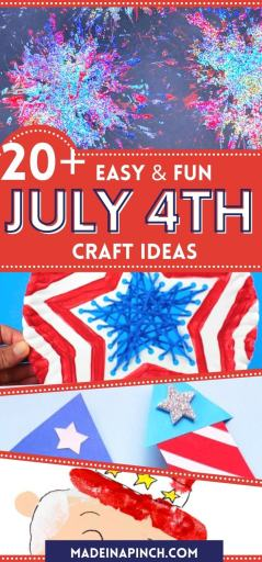 4th of July crafts for kids long pin
