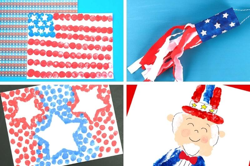 Fourth of July crafts for kids collage image