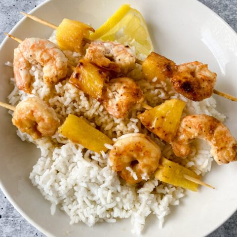 Honey Garlic Shrimp Skewers