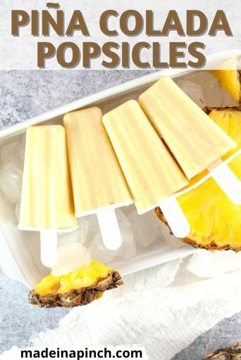 pineapple coconut popsicles pin image