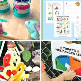 camping activities for kids collage