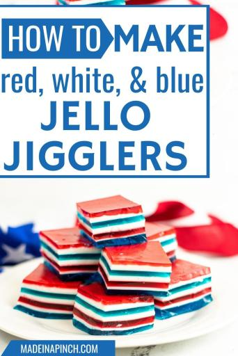 red white and blue jello jigglers pin image