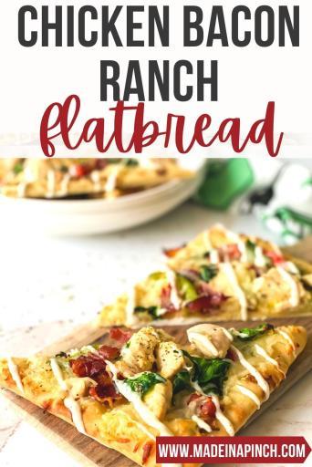 Chicken bacon ranch flatbread pin