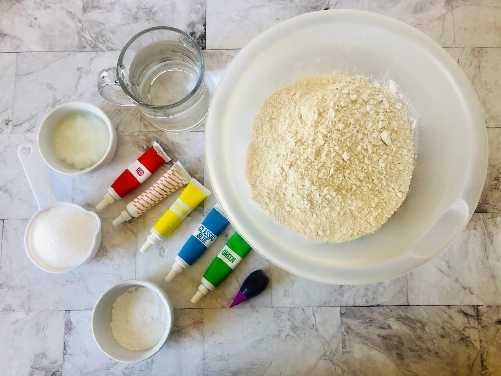 DIY playdough ingredients