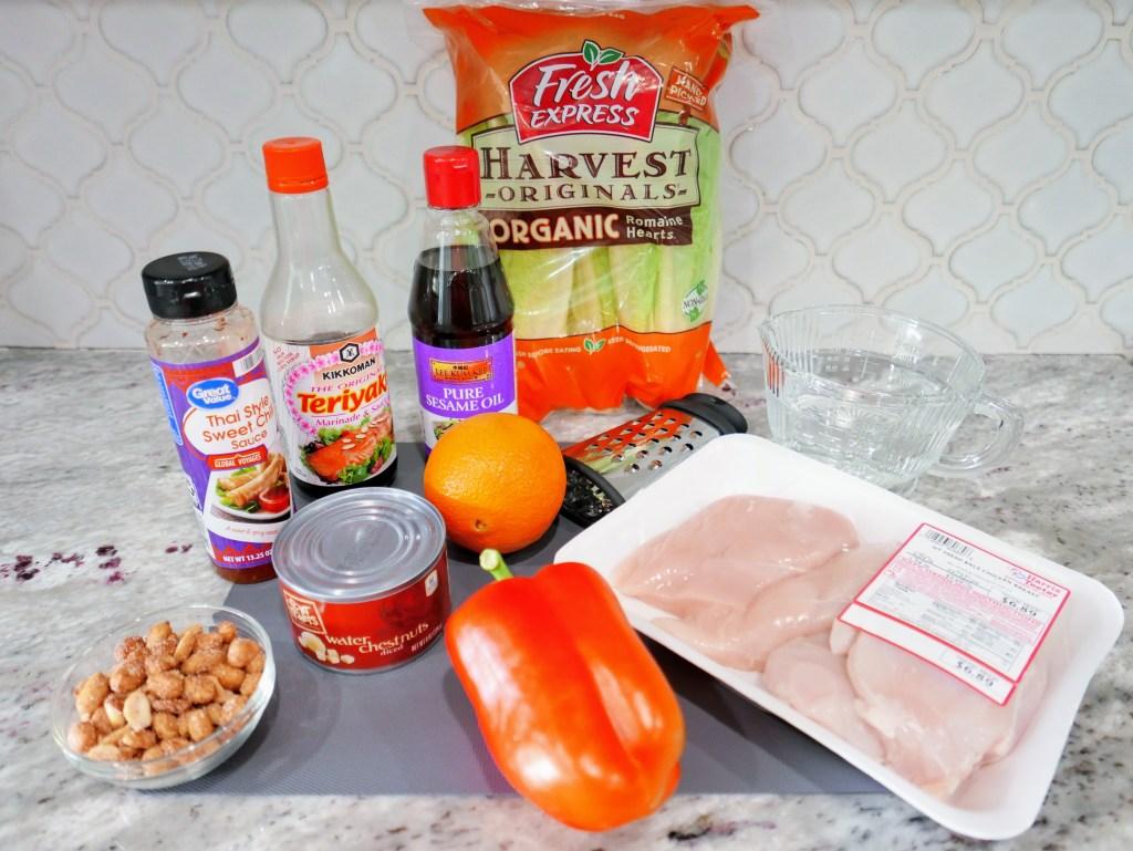 Teriyaki Lettuce Wraps ingredients