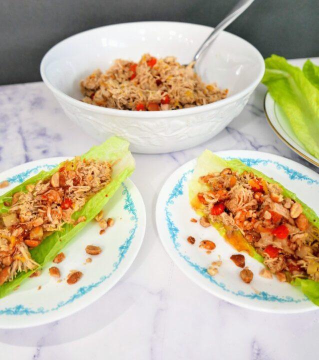 Orange Teriyaki Chicken Lettuce Wraps