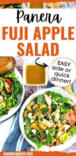 Panera Fuji Apple Salad copycat recipe pin image