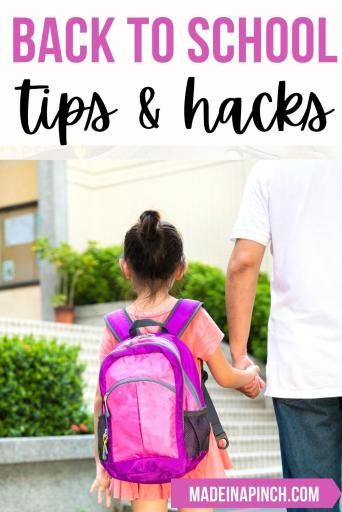 back-to-school preparation tips pin image