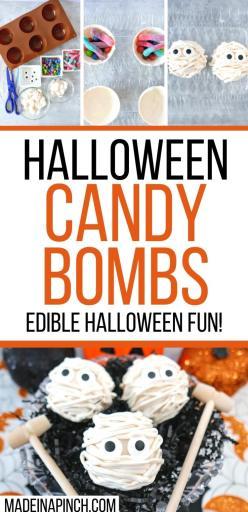 Halloween candy bombs long pin