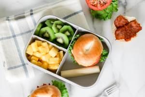 mini BLT bagel school lunch