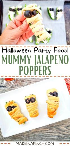 Mummy-wrapped jalapeno poppers long pin