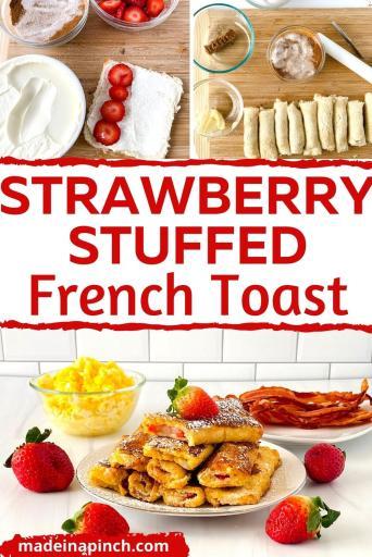 Strawberry Stuffed French Toast pin