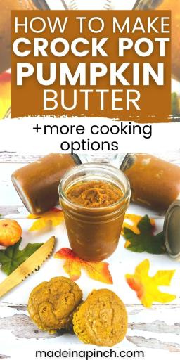 Crock pot pumpkin butter pin image