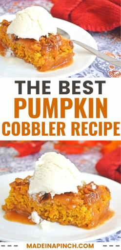 pumpkin cobbler recipe pin