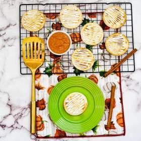 frosted pumpkin pie hand pies