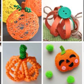 pumpkin crafts for kids image collage
