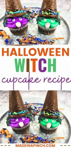 Halloween witch hat cupcakes