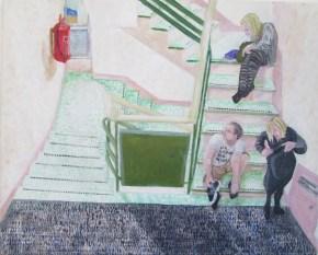 Joshua von Uexkull - Family on Staircase