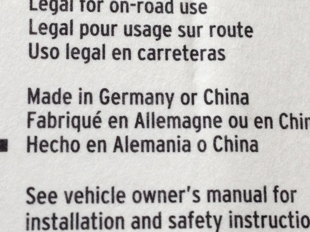 Made in Germany OR China (2/2)