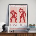 Affiches Epaulé Jeté Rouge