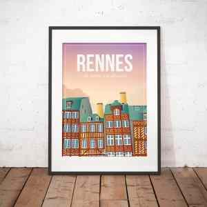 Affiche Rennes Charme à la bretonne