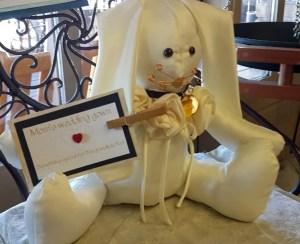 Custom Bunny Made From Mom's Wedding Dress