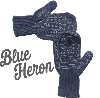 blue heron michigan mittens