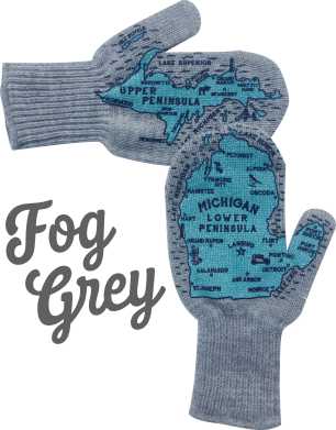 fog grey michigan-mittens