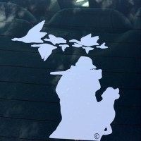 Michigan Geese Hunter Decal