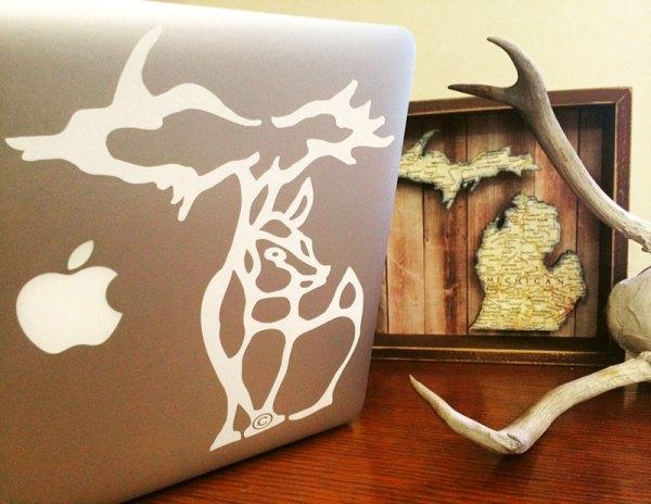 Michigan Deer Design Decal